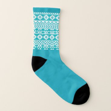 Aztec Themed Ladies Socks - Aztec Blue