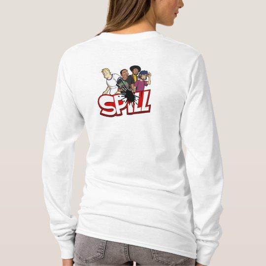 Ladies Spill Crew Hoodie (Back)