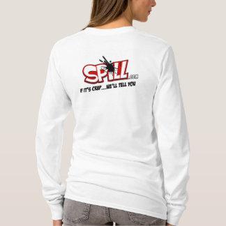 Ladies Spill Logo Hoodie (Back Logo)