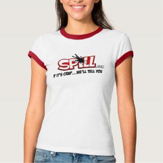 Ladies Spill Ringer T T-Shirt