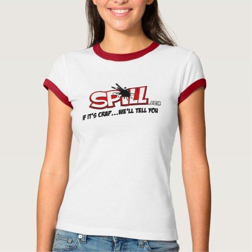 Ladies Spill Ringer T Tees