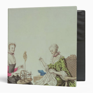Ladies spinning and sewing, c.1765 3 ring binders