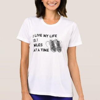 Ladies' SS Wicking - Life 13.1 miles at a time T-shirts