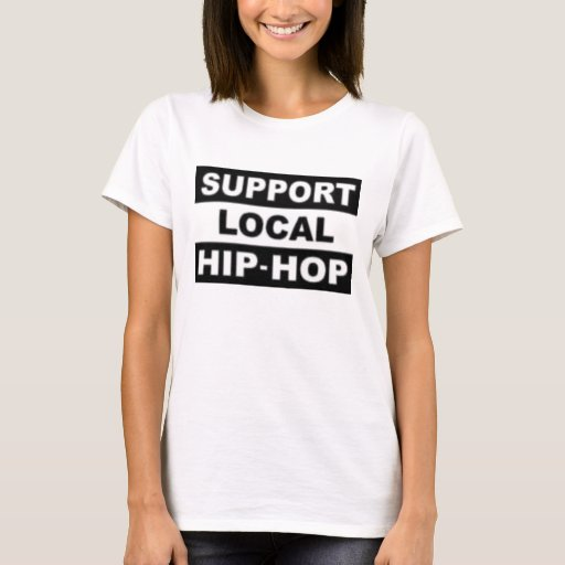 Ladies support local hip hop spaghetti strap shirt zazzle for Local t shirt printing companies