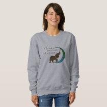 Ladies sweatshirt with logo