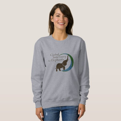 Ladies sweatshirt with logo
