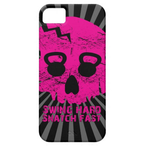 Ladies Swing Hard Snatch Fast Kettlebell Iphone 5 iPhone 5 Cases