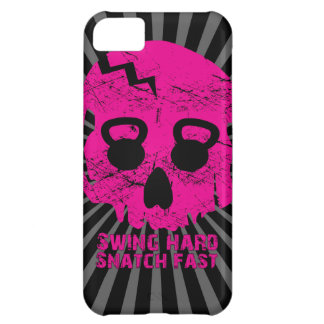 Ladies Swing Hard Snatch Fast Kettlebell Iphone 5 iPhone 5C Covers