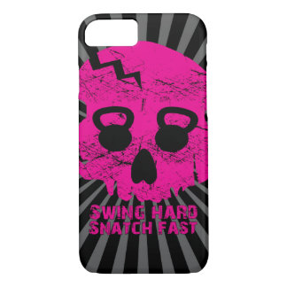 Ladies Swing Hard Snatch Fast Kettlebell iPhone 7  iPhone 7 Case