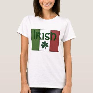 Ladies T Shirt Top Irish Shamrock Flag