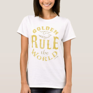 Ladies T-Shirt Vintage Golden Rule The World