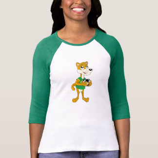 Ladies T-Shirt with cougar cartoon