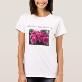 Ladies T-Shirt with Pink Roses