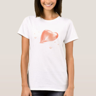 Ladies T-shirt with  transparent heart