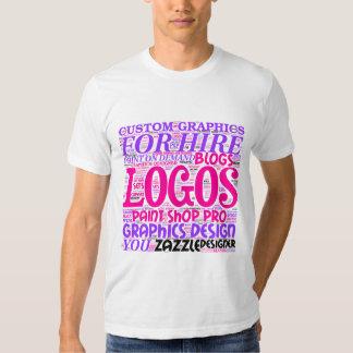 Ladies Tee advertising Graphics Design Services