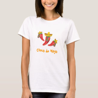 Ladies Tee, Chilli Peppers, Cinco de Mayo T-Shirt