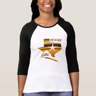 LADIES TEXAS GIRL 3/4 SLEEVE fitted Tee Shirt