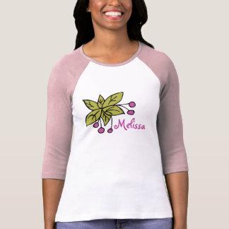 Ladies Three-Quarter Sleeve Raglan Leaves Berries Tshirts
