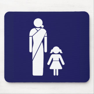 Ladies' Toilet Sign, India Mousepads