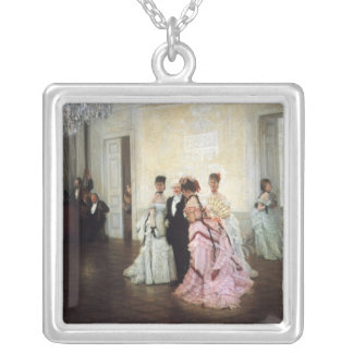 Ladies Too Early to the Party Silver Plated Necklace