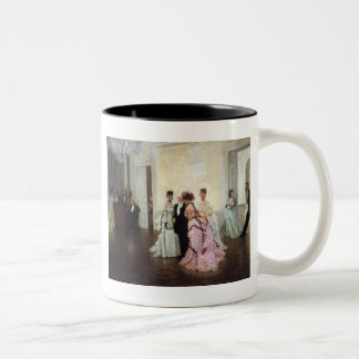 Ladies Too Early to the Party Two-Tone Coffee Mug
