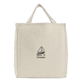 Ladies Tote Bag-Sailboat/name or company