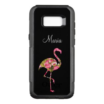 Beach Themed Ladies Tropical Flamingo OtterBox Commuter Samsung Galaxy S8  Case