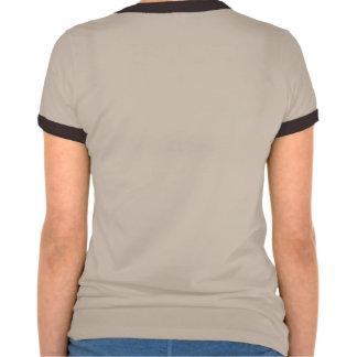 Ladies two-color shirt w/ Achaea dragon logo