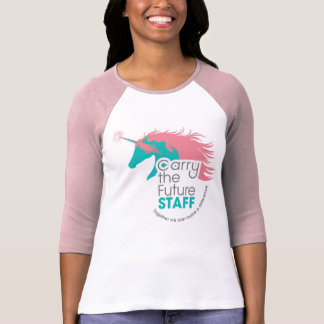 Ladies Unicorn Staff Baseball Tee