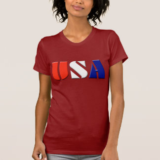 Ladies USA Patriotic Top Shirt