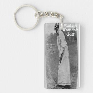 """""""Ladies Victorian Golfing"""" Keychain"""