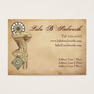 Ladies Victorian Steampunk Profile Card