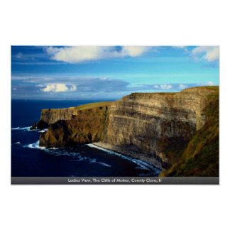 Ladies View, The Cliffs of Moher, County Clare, Ir Poster