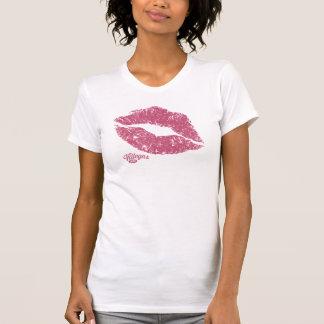 Ladies Villegas Lips Pink T-Shirt
