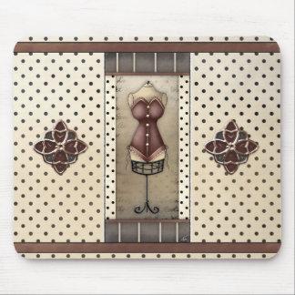 Ladies Vintage Antique Corset with Jewels Mousepad