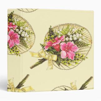 Ladies Vintage Fan With Floral Vinyl Binders