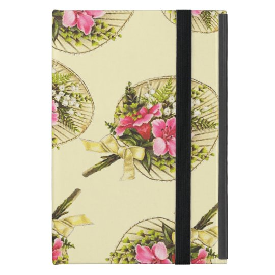 Ladies Vintage Fan With Floral Cover For iPad Mini