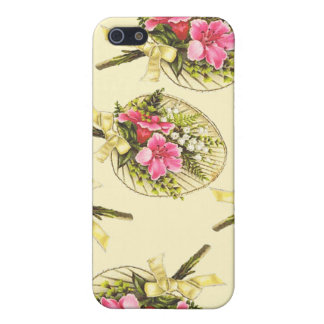 Ladies Vintage Fan With Floral iPhone SE/5/5s Cover