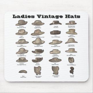Ladies Vintage Hats Mouse Pad