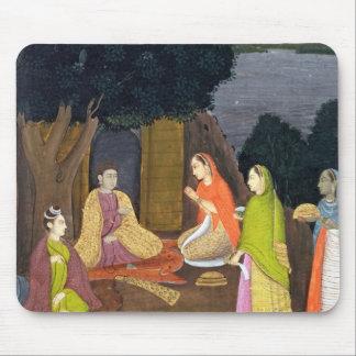 Ladies visiting a Yogini, School of Faqurullah Kha Mouse Pad