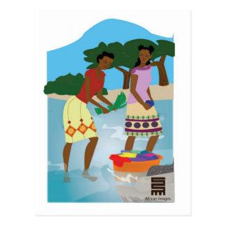 Ladies Washing Postcard