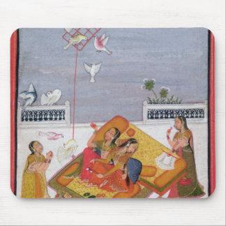 Ladies Watching Pigeons, 1770 Mouse Pad