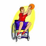 ladies wheelchair ball acrylic cut outs