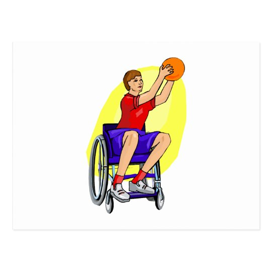 ladies wheelchair ball postcard