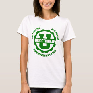 Ladies White Baby Doll Radiation Logo T-Shirt