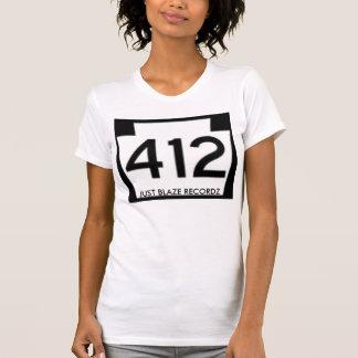 Ladies White/Black 412 Just Blaze Recordz Shirt