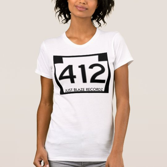 Ladies White/Black 412 Just Blaze Recordz Shirt