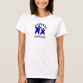 Ladies' White Fitted Baby Doll T-Shirt
