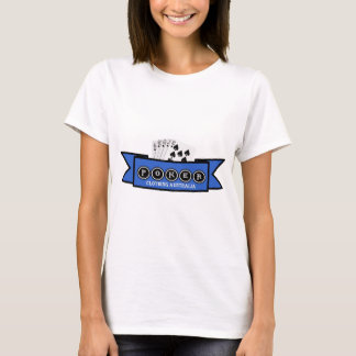 ladies white t with poker clothing design T-Shirt