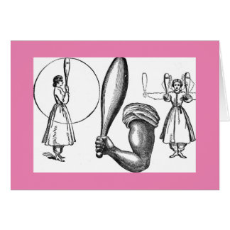 Ladies with clubs: physical culture notecards card